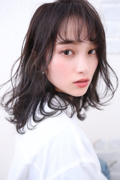 モノトーンアッシュ黒髪 Lee上新庄ニュートラル店