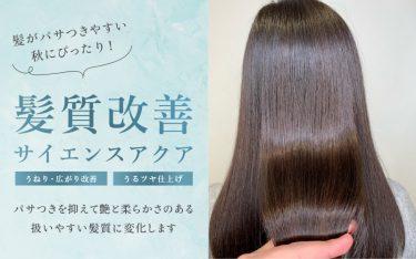 髪がパサつきやすい秋に!サイエンスアクアでツヤ髪