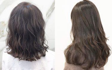 黒髪じゃない、艶っぽ暗髪ヘアカラーで透明感たっぷりの冬色に♡