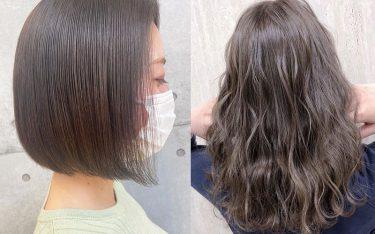 髪の赤みを抑えて綺麗に色落ち♪2021年春夏向けの透明感ヘアカラー!
