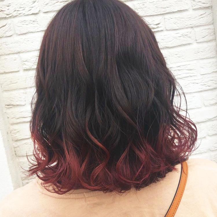 裾カラー チェリーレッド