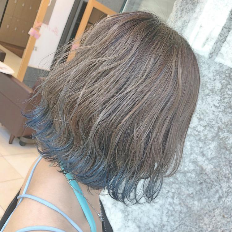 裾カラー ハワイアンブルー