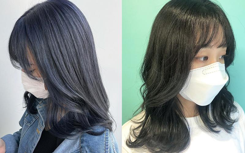 暗髪トレンドヘア