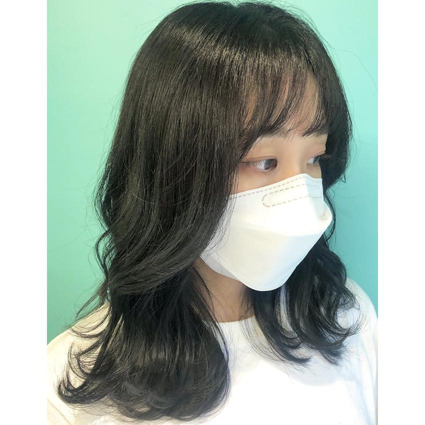 韓国風レイヤー×オリーブグレーカラー